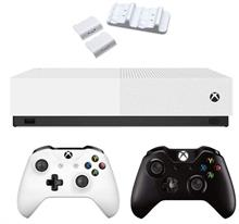 Microsoft Xbox One S ALL DIGITAL 1TB Bundle 2Gamepad Black With Dual Charging Dock